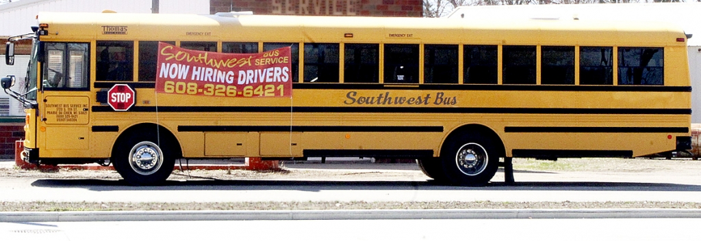 By Correne MartinSouthwest Bus Service in Prairie du Chien is seeking school bus drivers for morning, afternoon, substitute and trip routes in the local school district. Anyone age 21 and older with a clean driving record and CDL with passenger and school bus endorsements, or interest in...